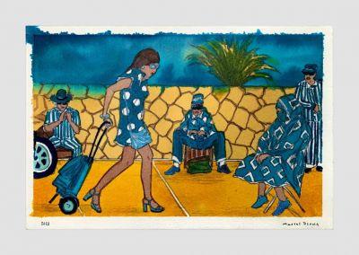 MARCEL DZAMA - BLUE MOON OF MOROCCO (solo) @ARTLINKART, exhibition poster
