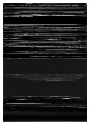 PIERRE SOULAGES - OUTRENOIR (solo) @ARTLINKART, exhibition poster