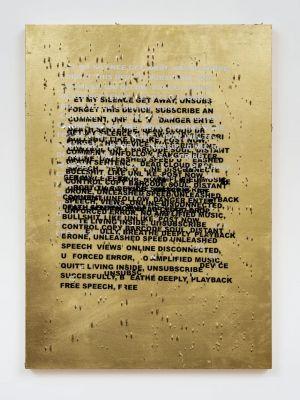STEFANBRüGGEMANN - UNTITLED ACTION  (GOLD PAINTINGS) (solo) @ARTLINKART, exhibition poster