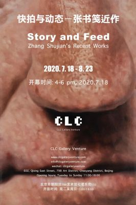 STORY AND FEED - RECENT WORKS BY  ZHANG SHUJIAN (solo) @ARTLINKART, exhibition poster