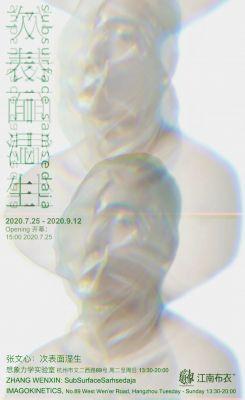 ZHANG WENXIN - SUBSURFACESAṁSEDAJA (solo) @ARTLINKART, exhibition poster