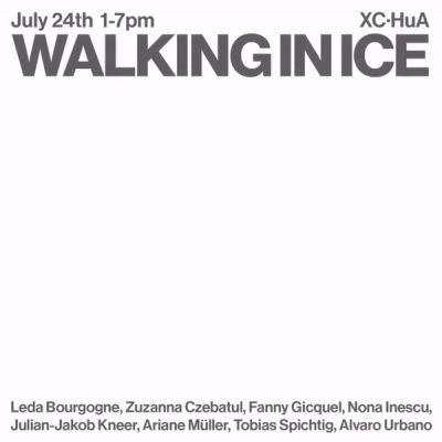 WALKING IN ICE (group) @ARTLINKART, exhibition poster