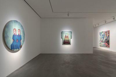ZHANG XIAOGANG, MAO YAN, QIU XIAOFEI (group) @ARTLINKART, exhibition poster