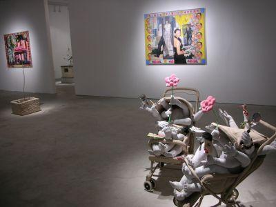 JI WENYU & ZHU WEIBING - SOFT SCULPTURES (solo) @ARTLINKART, exhibition poster