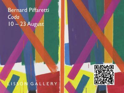 BERNARD PIFFARETTI - CODA (solo) @ARTLINKART, exhibition poster