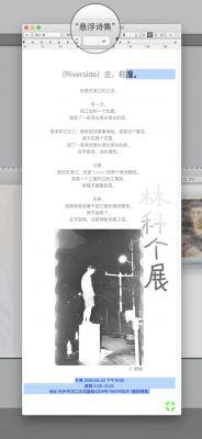 悬浮诗集——林科 × RIVERSIDE (个展) @ARTLINKART展览海报