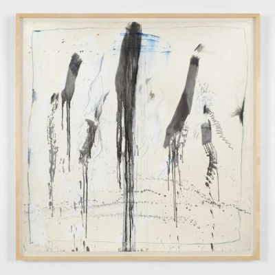 PAT STEIR - WATERFALL PAINTINGS ON PAPER (solo) @ARTLINKART, exhibition poster