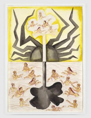 FRANCESCO CLEMENTE - WATERCOLORS (solo) @ARTLINKART, exhibition poster