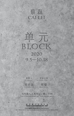 CAI LEI - BLOCK (solo) @ARTLINKART, exhibition poster