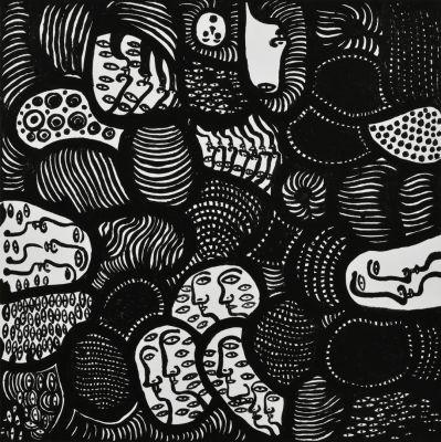 YAYOI KUSAMA - RECENT PAINTINGS (solo) @ARTLINKART, exhibition poster