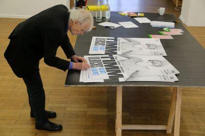 TIMM ULRICHS - ICH, GOTT & DIE WELT (solo) @ARTLINKART, exhibition poster
