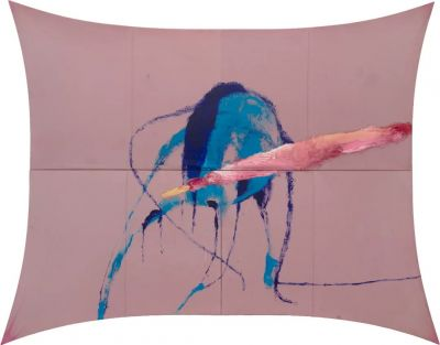 THE SAD LAMENT OF THE BRAVE, LET THE WIND SPEAK AND OTHER PAINTINGS - JULIAN SCHNABEL (solo) @ARTLINKART, exhibition poster