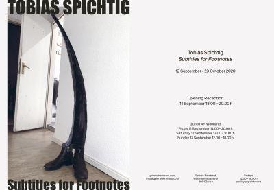 TOBIAS SPICHTIG - SUBTITLES FOR FOOTNOTES (solo) @ARTLINKART, exhibition poster
