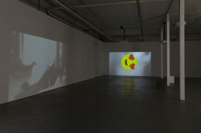 SHARIF WAKED - HALFTONES (solo) @ARTLINKART, exhibition poster